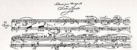Beilage zum Brief vom 19. Dezember 1859: Schluß zum Vorspiel von Tristan und Isolde