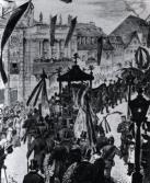 Ludwig Bechstein: Beerdigung Richard Wagners am 18. Februar 1883 in Bayreuth. Zeichnung